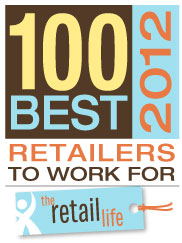 2012 100 Best Retailers to Work For Badge