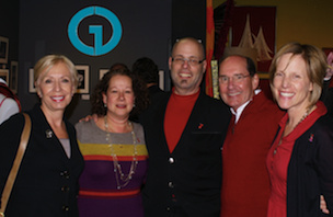 "Andrew Chasen of Chasen Galleries with friends and clients at ""Wine and Design"""