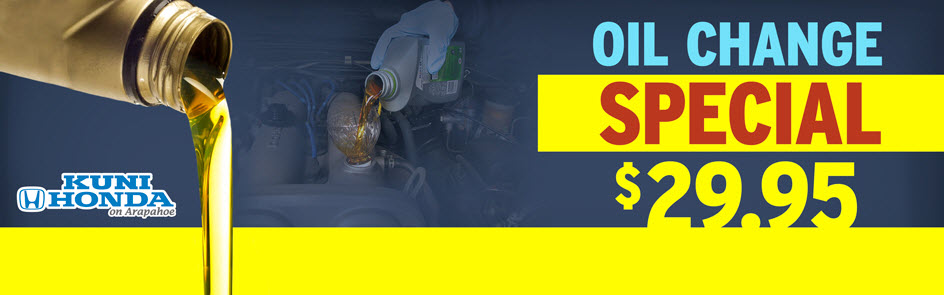 $29.95 Oil Change at Kuni Honda near Denver and Li