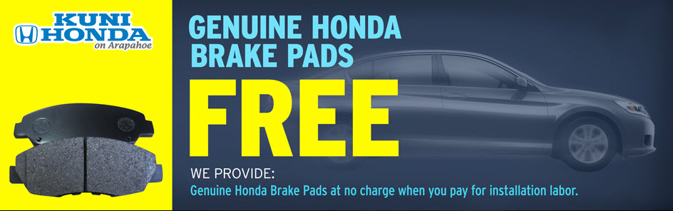 Free Honda Brake Pads at Kuni Honda near Littleton