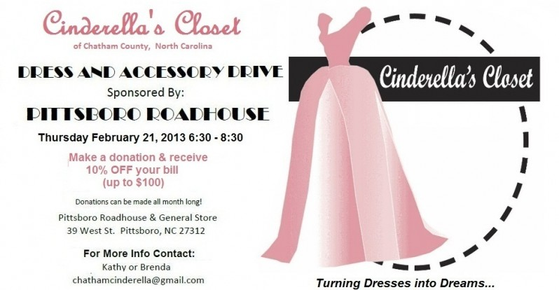 Cinderellas Closet Feb. 21, 2013 Event at Pittsboro Roadhouse NC