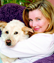 Megan Blake, actress. animal advocate, and human companion to Super Smiley