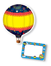 TCR5295 Hot Air Balloon Accents and TCR5340 Hot Air Balloon Name Tags