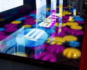 EKTA's new interactive Wowfloor LVF 24C on display at ISE
