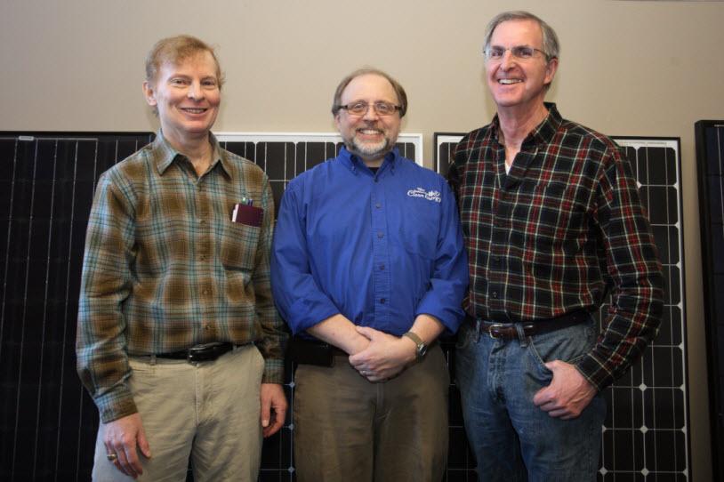 250th customer David Fink, Mark Durenberger, and 1st customer Tom Sikina