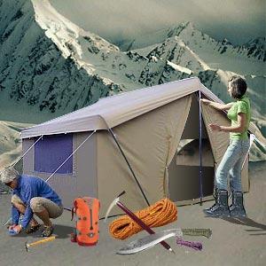 Survival techniques camping