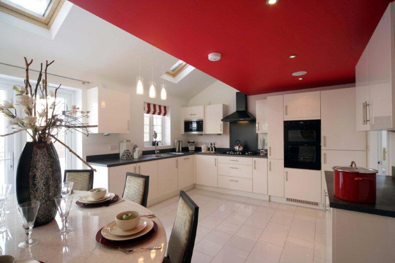 The kitchen of Davidsons new showhome at Church Gresley