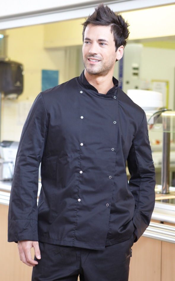 Mens Black Catering and Chefs Top