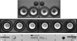 COREGO rack unit and f1 & s2 loudspeaker cabinets