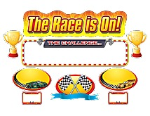 TCR5319  The Race Is On Mini Bulletin Board Set