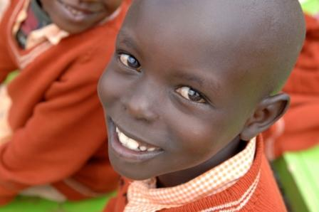 Boy from Heroes of the Nation Orphanage in Kenya, Africa.