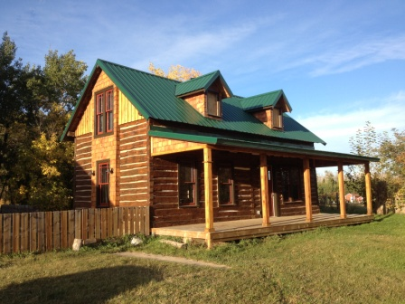 This 108-year old homesteader's cabin is being restored with Sansin products.