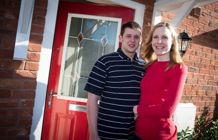 Lucy and Matt enjoy their new home at Laurel Grove