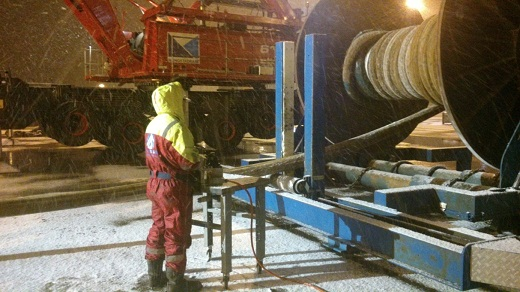 Spooling Wire in Mongstad Base 520X270