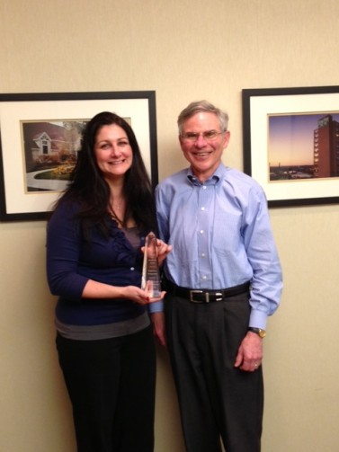 CHPA -Tammy and Terry receive the award.