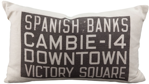 Spanish Banks Bus Scroll Throw Pillow by Pillow Decor
