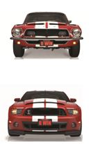The Mustang Dream Giveaway collectible 1968 and 2013 Ford Shelby GT500 Mustangs.