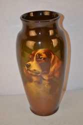 Standard glaze portrait vase, signed M. Timberlake