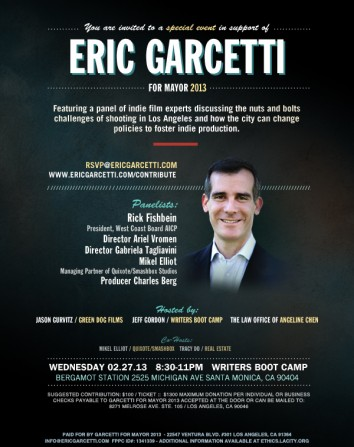 Eric Garcetti Fundraiser Feb 27th