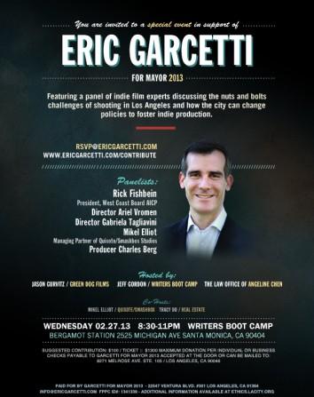 Eric Garcetti Fundraiser Feb 27th