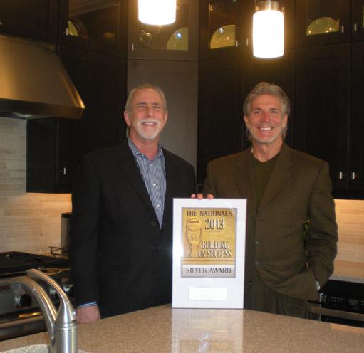 Coldwell Banker New Homes VP David Schoner w/ Silver Award winner Les Newlands