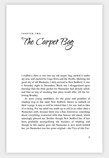 "Sample ""Legend"" Book Design Template Chapter Open"