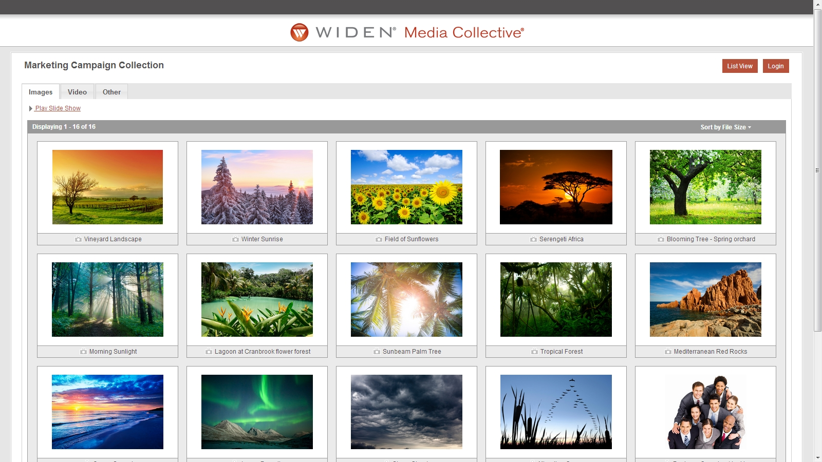 "Public collection pages feature a new ""gallery view"""