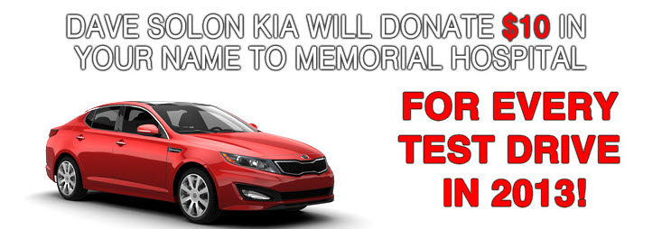 Test Drive and Dave Solon Kia Will Donate in Your Name