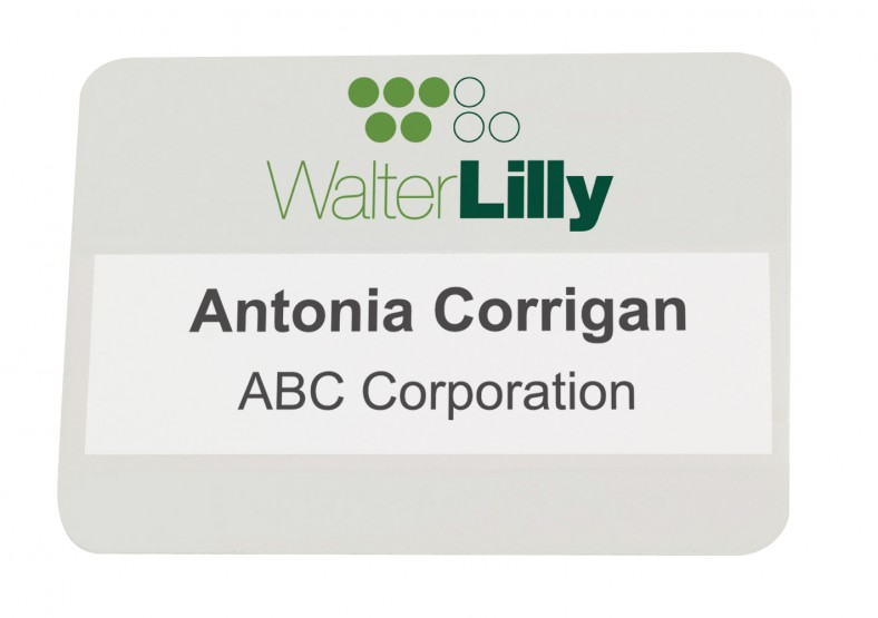 A sample of the Walter Lilly Event Badge