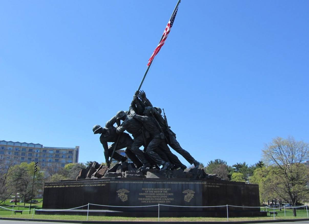 US Marine Corps War Memorial in Washington, D.C. Photo by Ryan Pinney.