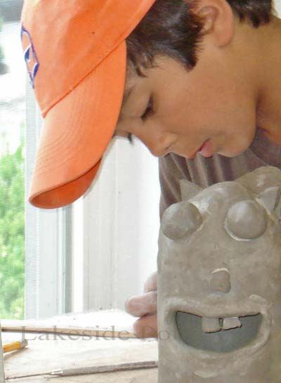 Summer camp sculpting project