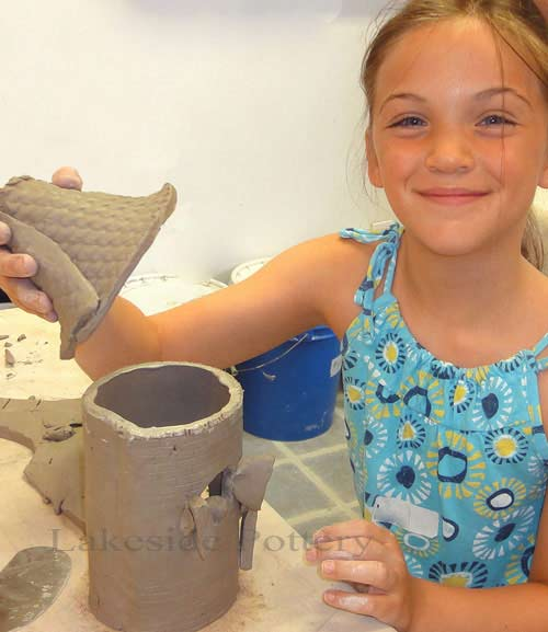 Summer camps first day hand building clay project
