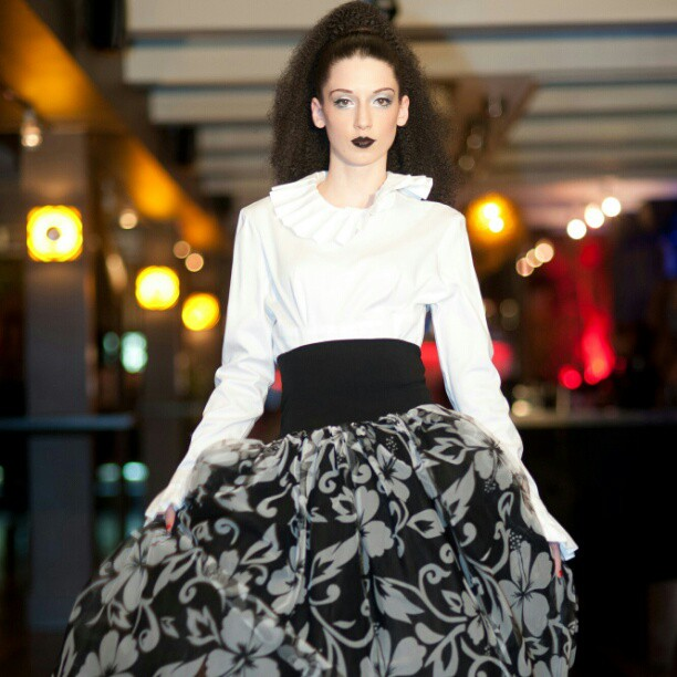 Model Anna Poston wearing Elizabeth Smith Fashions