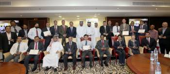 Senior Management Staff of DP World and Kanoo Machinery during the ceremony