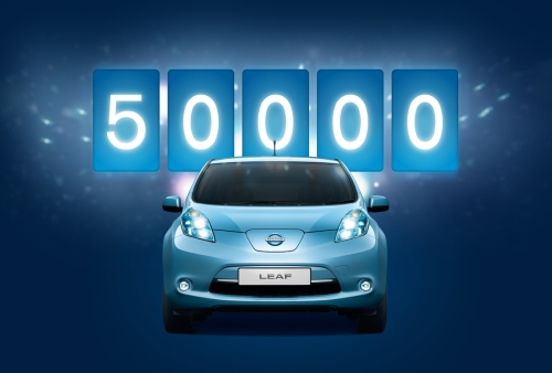 Nissan Sells 50,000th LEAF