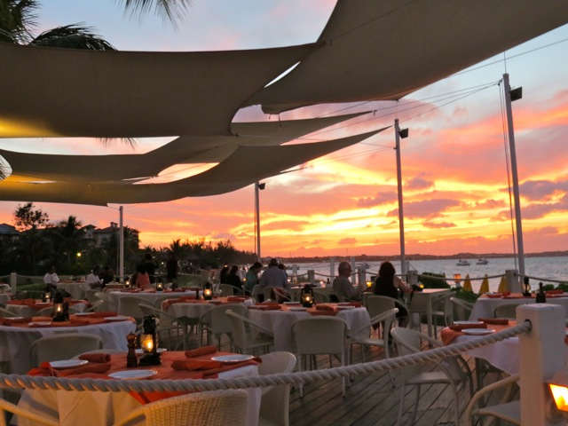 Mango Reef Restaurant at Sunset