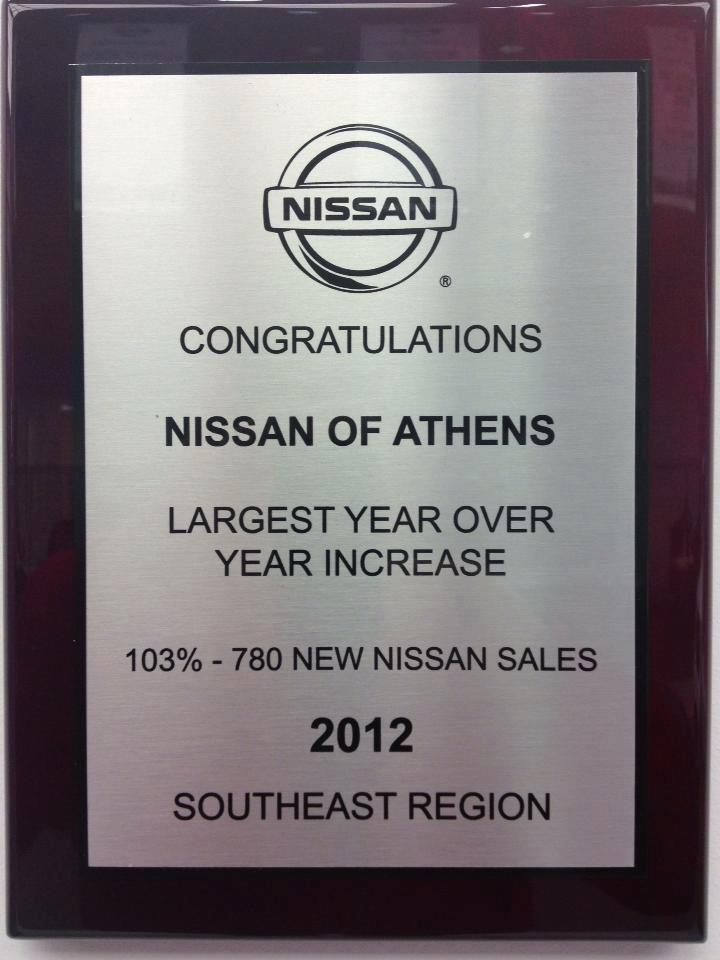 Congratulations Nissan of Athens
