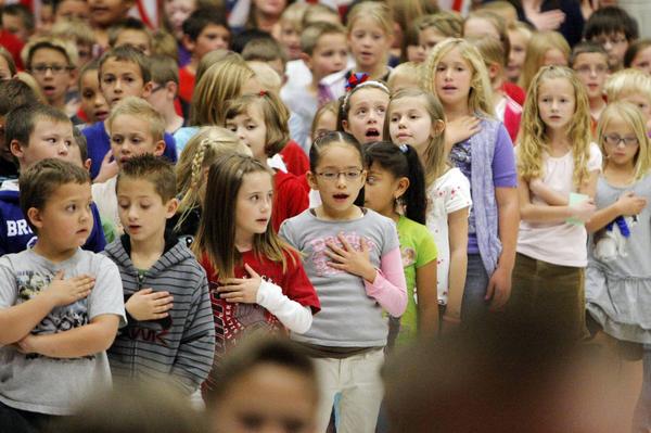 Kids praying in school