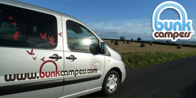 Bunk Campers budget 'Roadie' Campervan exploring Ireland