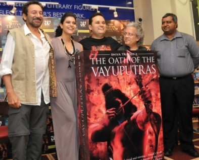 L-R Shekhar Kapoor, Kajol, Author Amish Tripathi,
