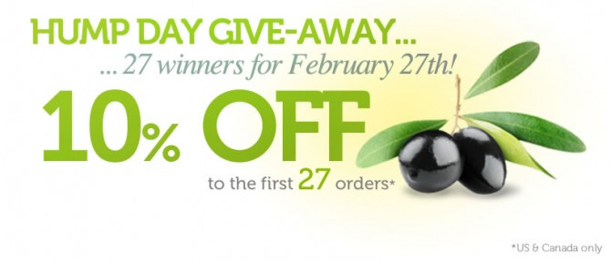 Olivella Hump Day give-away