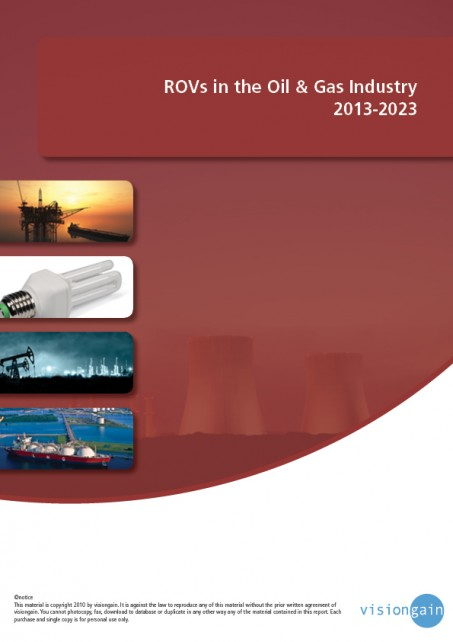 ROVs in the Oil & Gas Industry 2013-2023 Cover