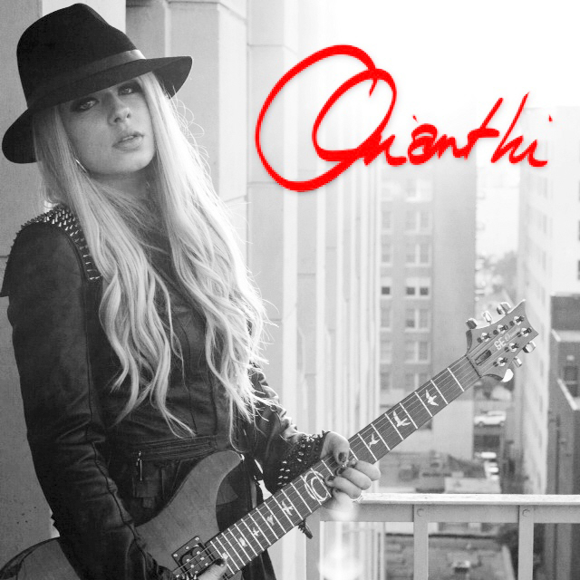 Orianthi with signature PRS guitar