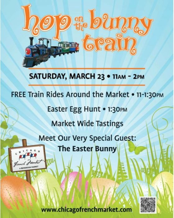 Hop the Bunny Train Flyer