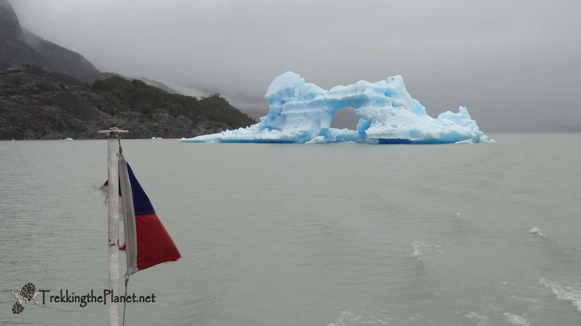 Iceberg near Glacier Grey in Torres del Paine National Park