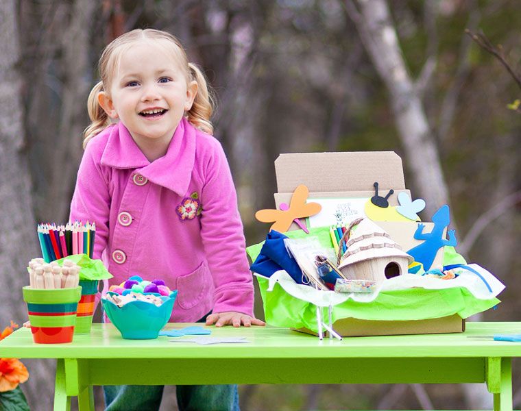 Green Kid Crafts subscribers enjoy deliveries of four fun craft kits each month.