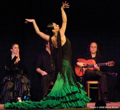 Gabriela Granados, Aurora Reyes, Alfonso Cid & Raphael Brunn in Tablao Flamenco
