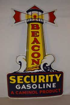 Beacon Security porcelain sign