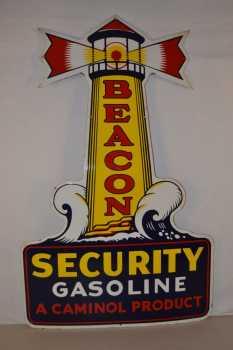 Beacon Security porcelain sign