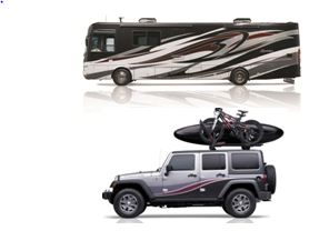 The Outdoor Adventure Dream Giveaway features both this Berkshire RV and Rubicon